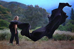 God Is Wearing Black (artos_thebear) Tags: blue man black mountains male nature dark flying nikon mourning wind god cape cloak sweeping systemofadown artistry soad d40 musicinspired sarahallegra