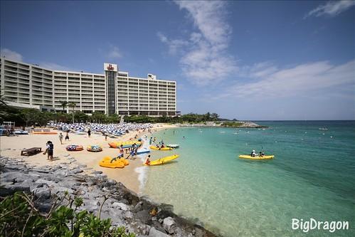 ホテルとプライベートビーチ