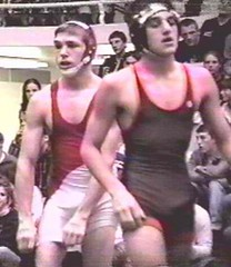 two guys (wrestlingguy78) Tags: school college high pin wrestling bulge