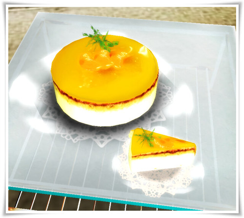 orange cake of summer poche