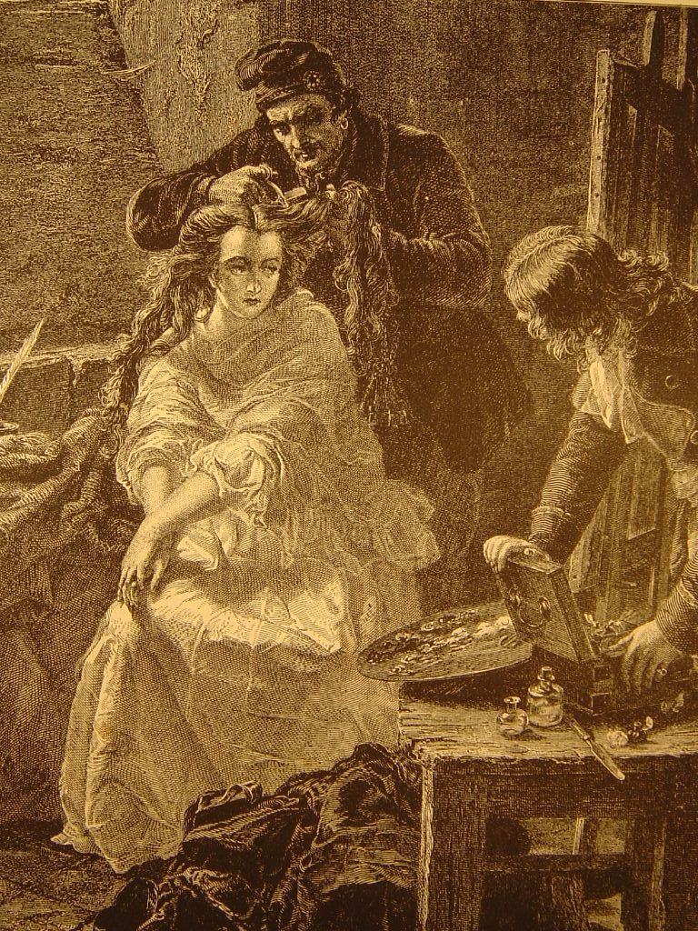 Mathieu Ward, Charlotte Corday La dernière toilette (1871)