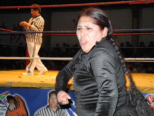 Fighting Cholitas in La Paz, Bolivia