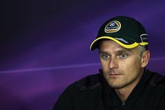 Heikki Kovalainen in the Thursday FIA press conference (2011 Team Lotus photo archive) Tags: hungary 11 f1 formulaone jul thursday formula1 hun gp gbr 2011 ontrack heikkikovalainen hungariangrandprix hungariangp