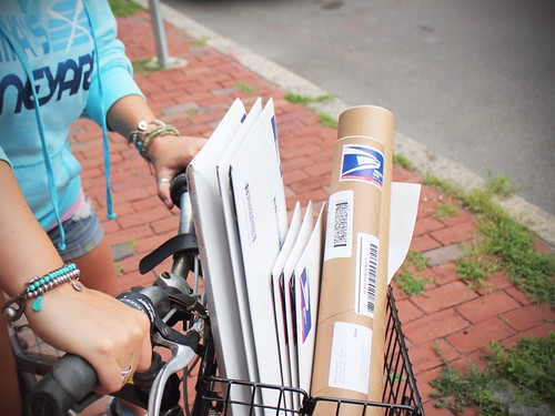 Biking to the post office