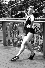 (UCA Epsom Vintage 2011) Tags: london vintage performance southbank entertainment leotard beachwear