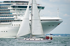 Sailing past the Grand Princess (Chalto!) Tags: boat sailing ship isleofwight solent iow liner 15challengeswinner