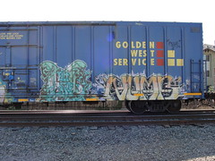 RUKE / NUMB (Same $hit Different Day) Tags: train graffiti elk freight numb ruke