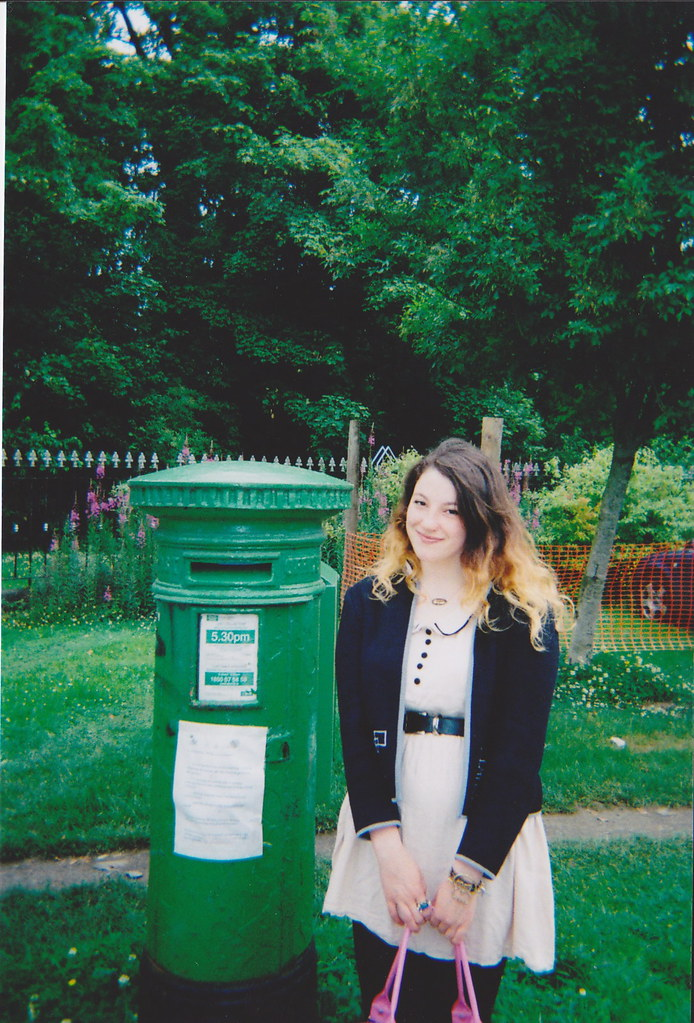 green post box what