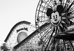 Fun [in the sun] Wheel (Kirsten Marie Hutton) Tags: blackwhite disney californiaadventure funwheel