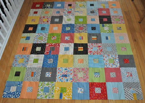 punctuation quilt top