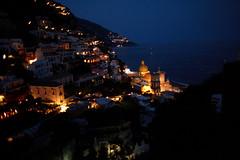 positano at dusk, italy [_MG_2003] (marios savva) Tags: sea italy church night landscape coast mediterranean dusk unesco worldheritagesite positano amalfi worldheritage