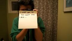 I want you to fall apart like I did (veronicab0ydell) Tags: bathroom lyrics sharpie stickynote everyavenue