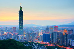 101 - Nightfall of Taipei 101 (prince470701) Tags: sunset taiwan nightview taipei101   taipeicity  101 elephantmountain panoramafotogrfico sonya850 sony2470za