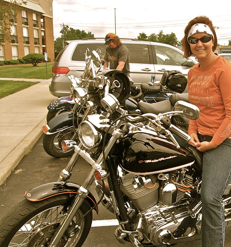 Jodi the co-host of Steel Horse TV