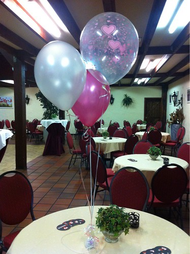 Tafeldecoratie 3ballonnen Partyfarm Steenbeek Hellevoetsluis