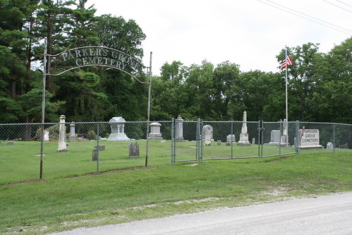 Entrance to Parkers Grove Cemetery