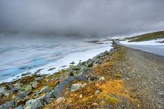 """śnieżna droga"" (Mariusz Petelicki) Tags: norway norge hdr norwegia aurlandsvegen snøvegen śnieżnadroga"