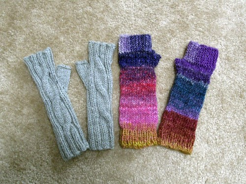 Fingerless gloves for Christmas