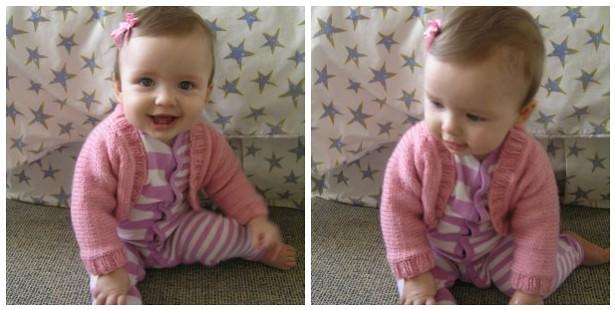 tillie models the baby shrug