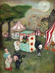 (the poppy tree) Tags: wood carnival original costumes moon house tree art fall halloween blackcat painting print pumpkin ride dusk witch clown carousel tent haunted ferriswheel cottoncandy rollercoaster lollipop candycorn grimreaper ticketbooth thepoppytree