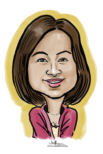 digitcal caricature live sketching for Utell Hotels and Resorts - 3