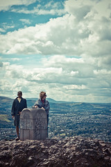 The highest point (823 ft) (subterraneancarsickblues) Tags: park city clouds canon buildings landscape scotland edinburgh view horizon peak holyrood apex arthursseat ef50mm18ii eos550d rebelt2i kissx4digital