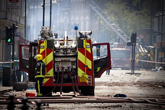 Fire Engine - Aftermath of Tottenham Riots by AndrewPagePhotography