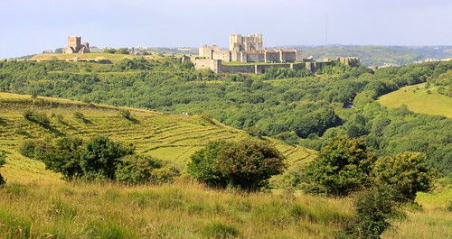 Dover Castle from Upper Road
