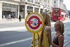 Travis on Oxford Street (mattward) Tags: sticker busstop travisbickle taxidriver oxfordst robertdeniro