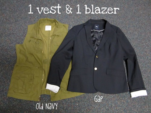vest and blazer