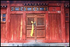 Holy Door (Leo Riva) Tags: door mill moulin temple buddhist prayer buddhism mongolia monastery monastere mongol mongolie priere boudhisme