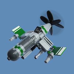 Jibaku Zero - Sky Fighter (Fredoichi) Tags: plane lego space military micro shooter shootemup skyfi shmup microscale dieselpunk skyfighter fredoichi