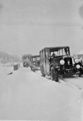 Snow on road to Andalsnes, Norway, 1949 (NE2 3PN) Tags: snow norway 1949 alvis andalsnes jowettbradford