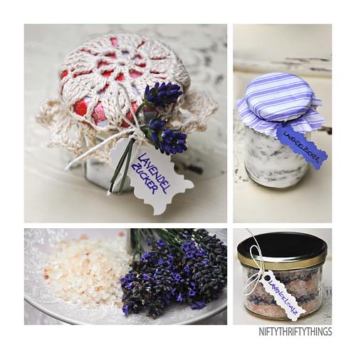 food gifts: lavender salt and sugar