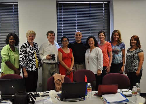 (from left to right) Deborah Parnell, breastfeeding coordinator of City of Dallas WIC, Cathy Carothers, co-director of Every Mother Inc., Robert Lane, director of Aspire Communications, Hitesh Bakshi, nutritionist of SWR WIC, Eddie Longoria, director of SWR WIC, Kendall Cox, co-director of Every Mother Inc., Patti Mitchell, program analyst of FNS national office, Tracy Erickson, breastfeeding coordinator of Texas WIC, Kristina Arrietta, peer counselor coordinator of Texas WIC
