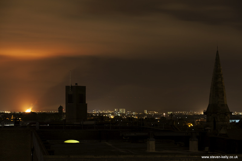 One of the many huge fires tonight in London tonight