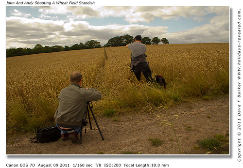 John And Andy Shooting A Wheat Field Standish Nr Chorley Lancashire