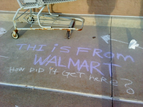 Thi [sic] is from Wal-Mart. How did it get here?