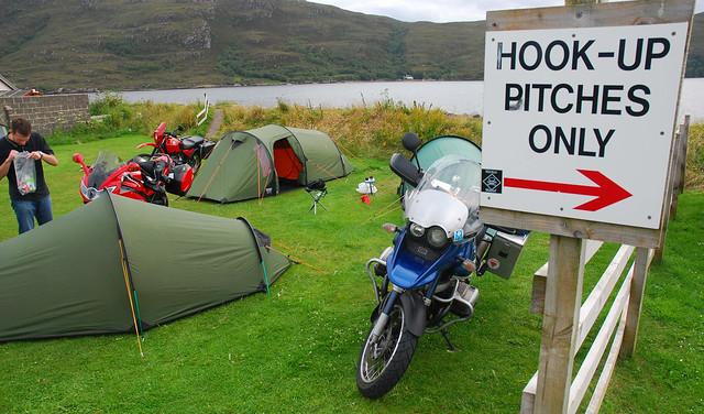 Ullapool campsite.
