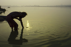continuity (iamaiman (dhiman basak)) Tags: morning india river bath holy sacred ritual continuity ganga ganges