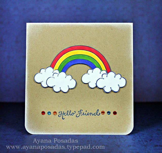 Rainbow Hello Friend