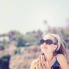 Smile to the sun) (ital_vita) Tags: travel girls light sea summer portrait people woman baby sun selfportrait color cute girl beauty smile face sunglasses dreadlocks lady cat portraits self canon turkey wonderful hair geotagged happy eos 50mm amazing women paradise artist mood dof power sweet bokeh head trkiye fresh attitude antalya vegetarian planet dread earrings joyful reggae emotions hairstyle rasta squared vita rastafari jah ital rastababy 550d  eos550d italvita rebelt2i