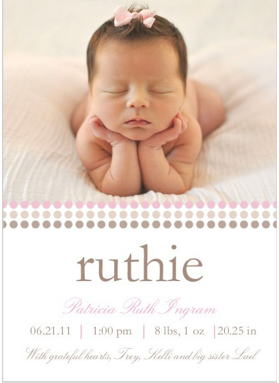 ruthie announcement