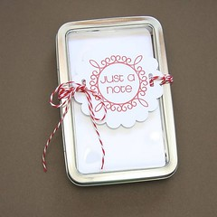 notecard gift tin (Monika Wright) Tags: set stamp teacher note stamping greetingcard notecards gifttin stampsoflife bakerstwinethetwinery