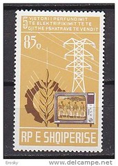 Vjetori i pest i prfundimit t elektrifikimit t t gjith fshatrave t vendit, 1976. 5me anniversaire de la fin de l'lectrification de l'ensemble de l'Albanie, 1976. 5th anniversary of the end of complete access to electricity to all Albania, 1976. (Only Tradition) Tags: al albania filatelia albanien shqiperi shqiperia albanija albanie shqip shqipri ppsh shqipria filateli shqipe arnavutluk hcpa philatlie albani   gjuha   rpsh  rpssh       albnija