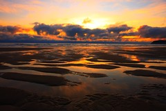 Sand Lake Sunset (Don Jensen) Tags: sunset cloud lake reflection beach nature clouds oregon canon landscape sand sigma beaches 1020 epic sunets 40d