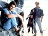 Tom Cruise (Welleftch) Tags: dog man hot cute sexy celebrity film feet beach magazine movie fun photoshoot body ripped young tshirt jeans american tomcruise hollywood short actor denim casual pooch celeb height 90s fit younger