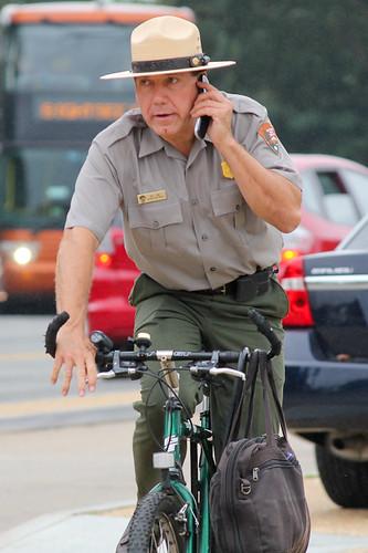 ranger on bike