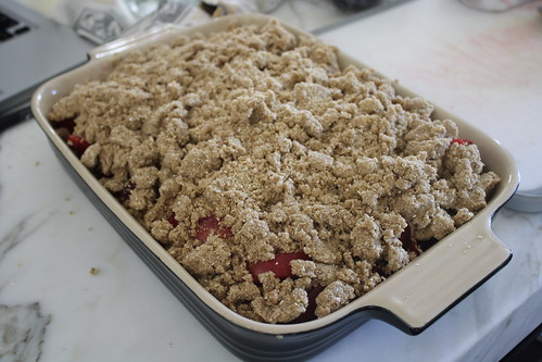 Plum Oatmeal Crumble