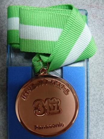 キッズゴルフ選手権3位の銅メダル